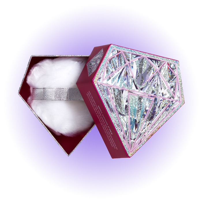 Пуховка с бриллиантовой пудрой Diamond Body, NYX Professional Makeup