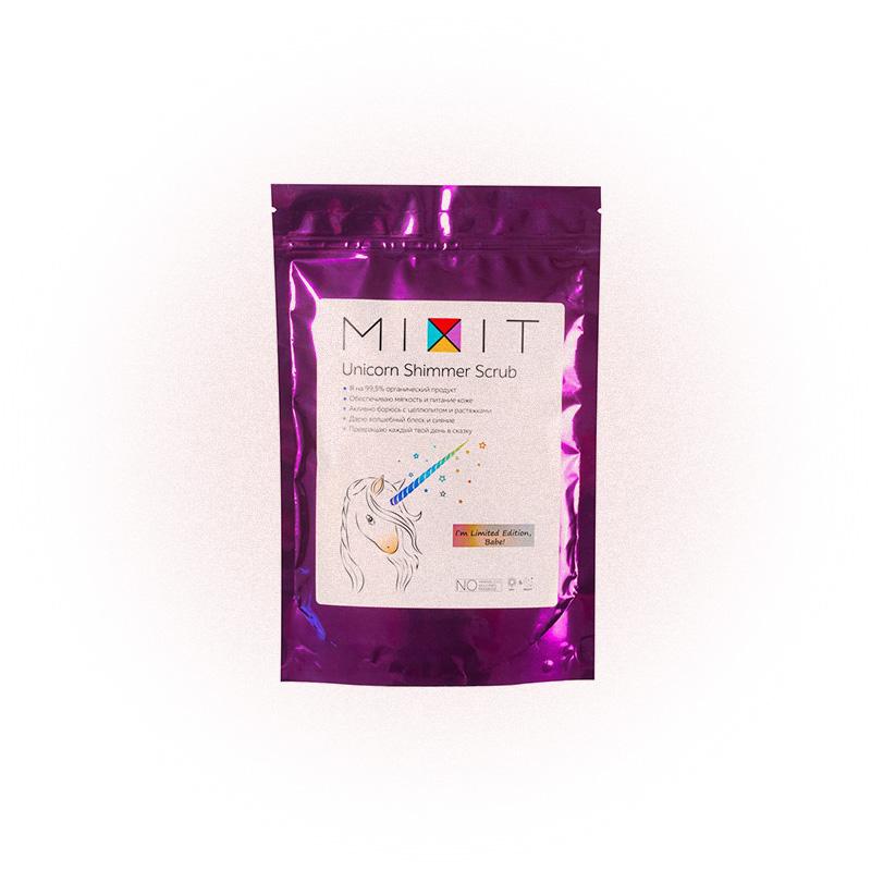 Сухой антицеллюлитный скраб Unicorn Shimmer Scrub, Mixit