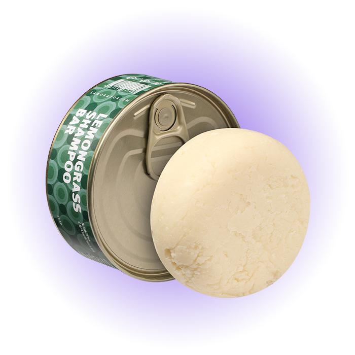 Твердый шампунь с пребиотиками Lemongrass Shampoo Bar, Laboratorium