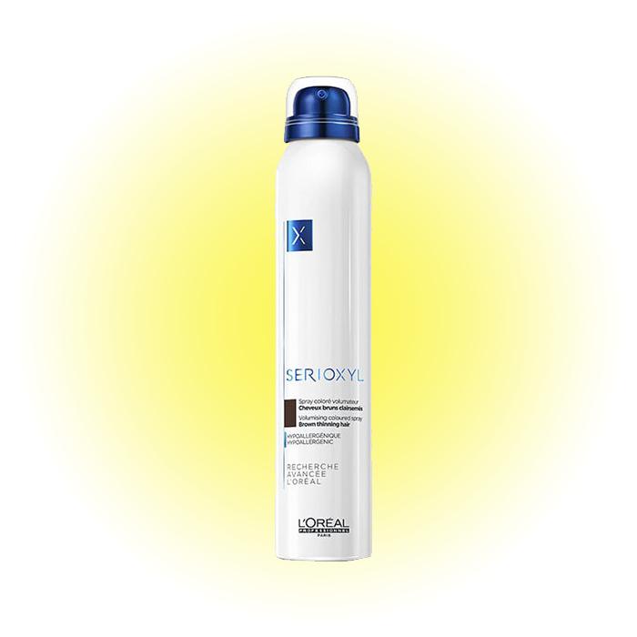 Цветной спрей-камуфляж Spray Serioxyl Volumizing Coloured Light Brown, L'Oréal Professionnel