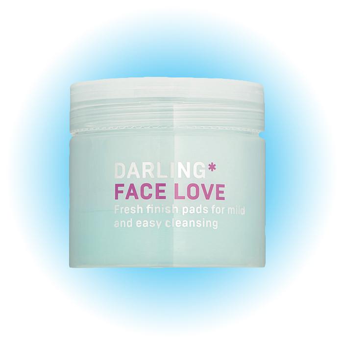 Освежающие пэды для быстрого и мягкого очищения лица Face Love, Darling*