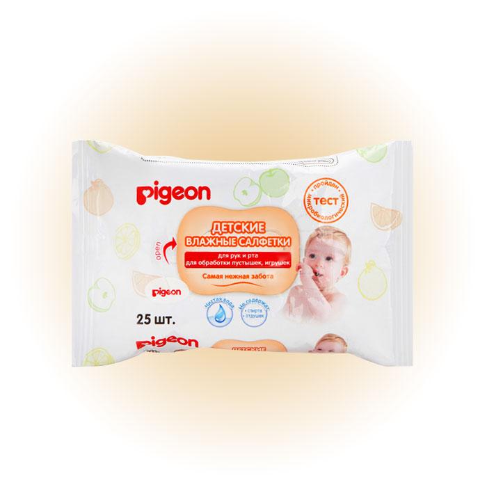 Детские влажные салфетки для рук и рта, Pigeon