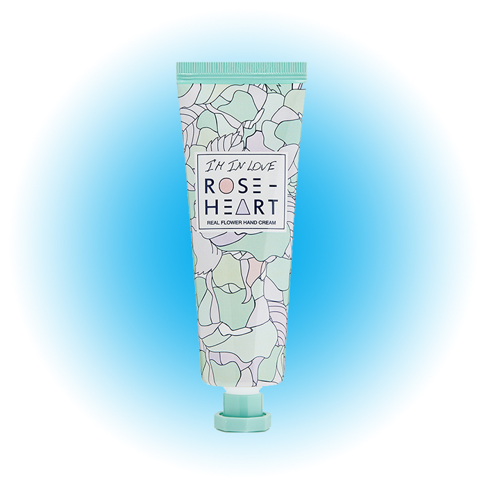 Крем для рук Real Flower Hand Cream, I'm In Love Rose-heart