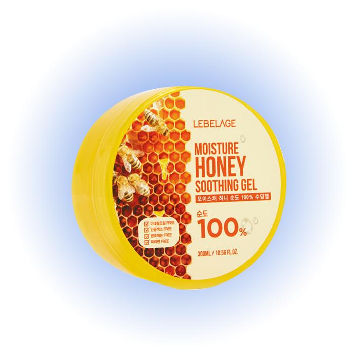Успокаивающий гель для лица с экстрактом меда Moisture Honey Soothing Gel, Lebelage