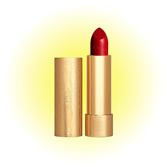 Помада Rouge à Lèvres Satin, Goldie Red, Gucci