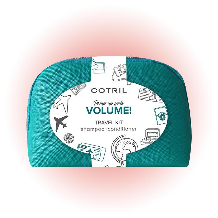 Шампунь + кондиционер Volume Pochette Travel Kit, Cotril